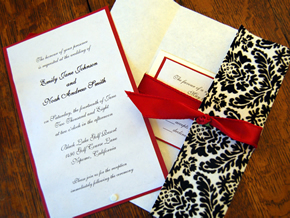 Stationery, white, black, invitation, Invitations, And, Damask, Invitations by alecia