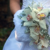 Flowers & Decor, white, Winter, Bride, Flower, Bouquet, Orchid, Cascade, Cymbidium, Moda floral event design, Muff