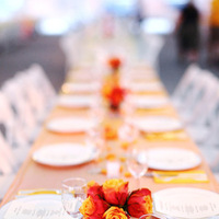 Flowers & Decor, yellow, orange, red, Cultural, Summer, Tables & Seating, City, Roses, Centerpiece, Bright, Colorful, Banquet, Place, Tables, Setting, Ethnic