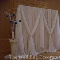 Ceremony, Flowers & Decor, white, Elegant, Draping, Backdrop, The wedding decorators inc