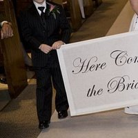 Bride, The, Comes, Here, Banner, Three galas designs