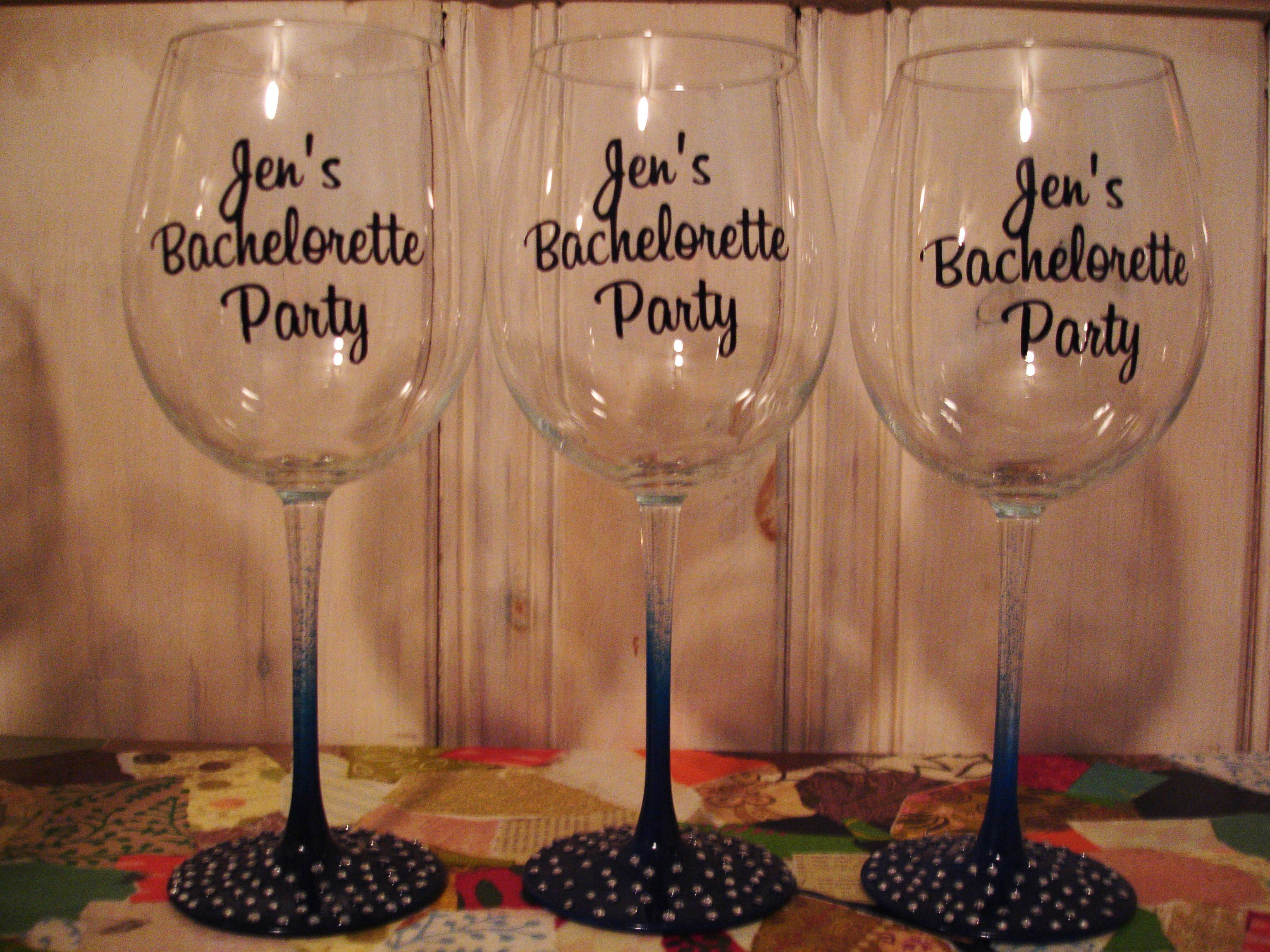 Registry, Drinkware, Custom, Bachelorette, Glasses, Three galas designs