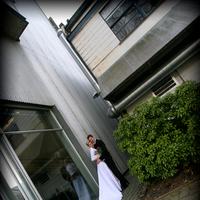 white, purple, Bride, Bouquet, Groom, Photo, Island, Beautiful wedding, Reflection, Pogoda studio - photography, Granville