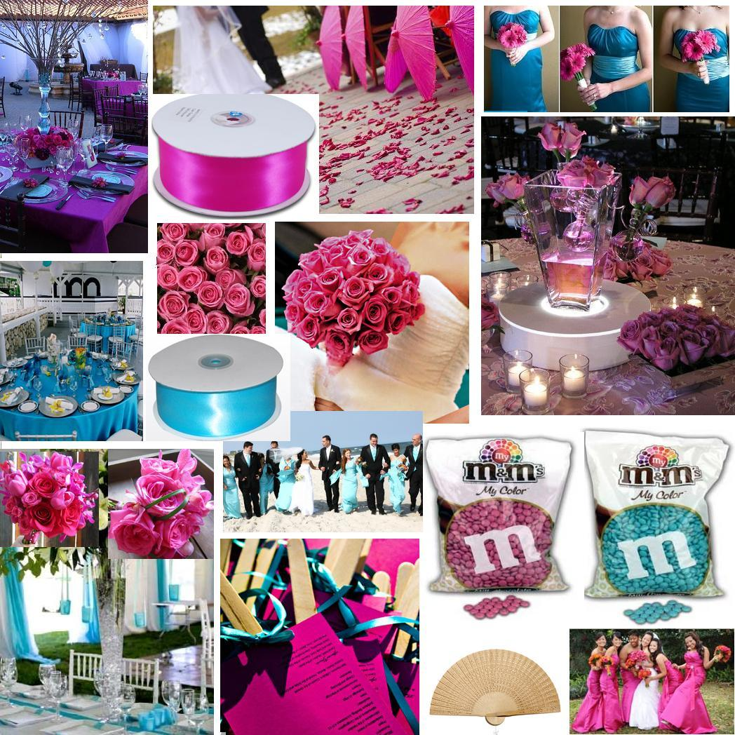 Turquoise Fuchsia Wedding: Aqua And Fuchsia