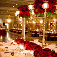red, Centerpieces, Glam Wedding Flowers & Decor, Vintage Wedding Flowers & Decor, Winter Wedding Flowers & Decor