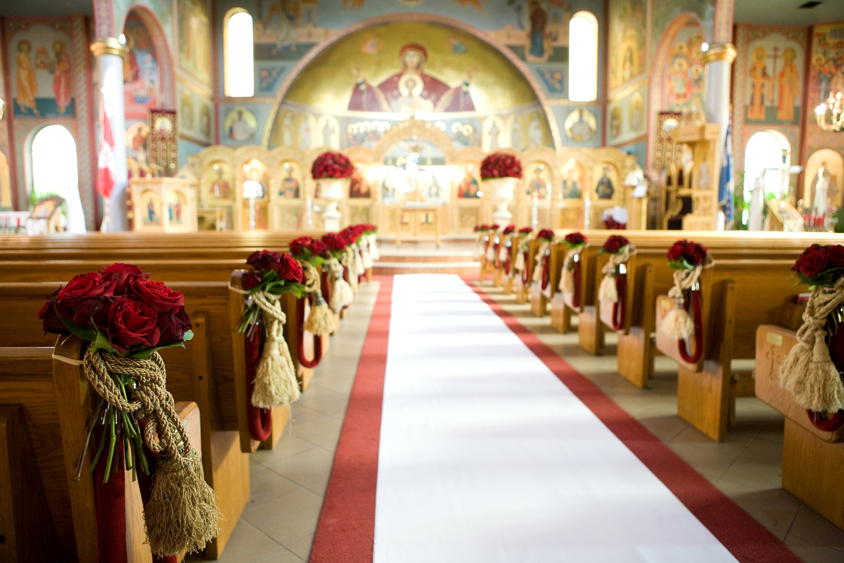 Ceremony, Flowers & Decor, Ceremony Flowers, Flowers, Wedding, Greek, Platinum events group, Orthodox