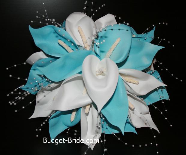 Calla, Aqua, Lillies, Budget-bridecom