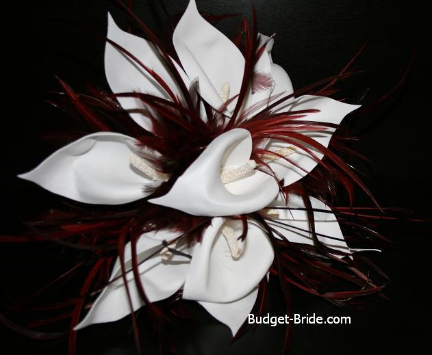 Beauty, Feathers, Bouquet, Wedding, Feather, Budget-bridecom