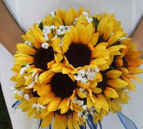 Bouquet, Sunflower, Budget-bridecom