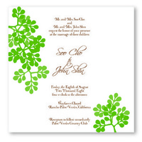 Stationery, Invitations, Olive hue formerly opus notations