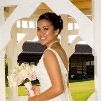 Bride, Bouquet, Gazebo, Formal, Pose, Campfire media