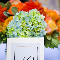 Flowers & Decor, Decor, Stationery, Real Weddings, blue, Table Numbers, Wedding, Table number, Pasadena, Wedding photos