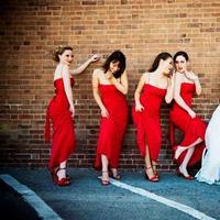 Bridesmaids, Bridesmaids Dresses, Fashion, red, Modern, Wedding, Modern Wedding Dresses