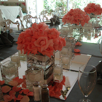 Reception, Flowers & Decor, Centerpieces, Flowers, Roses, Centerpiece, Coral, Flowers by fudgie