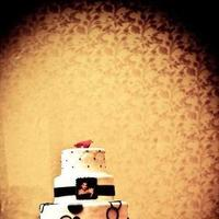 Cakes, white, red, black, cake, Modern, Modern Wedding Cakes, Wedding