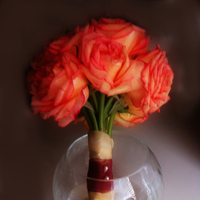 Flowers & Decor, orange, Bride Bouquets, Flowers, Roses, Bouquet, Dees petals