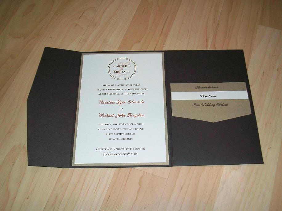 Stationery, Paper, invitation, Invitations, Custom, Pocket, Emily ley paper