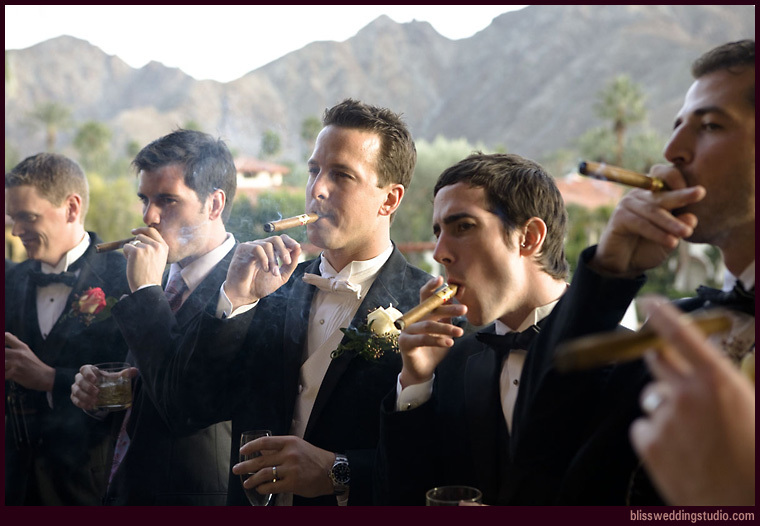 Outdoor, Groom, Portrait, Best man, Groomsman, California, Cigar, Mountains, Palm springs, Bliss wedding studio, Mira monte resort, Attendant, San gorgonio