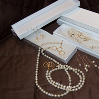 Jewelry, gold, Necklaces, Earrings, Pearls, Necklace, Swarovski, Beads