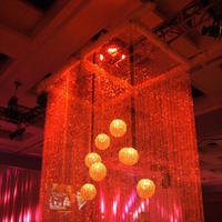Reception, Flowers & Decor, Decor, Lighting, Square, Table, Theme, Color, Light, Wash, Curtain, Beam