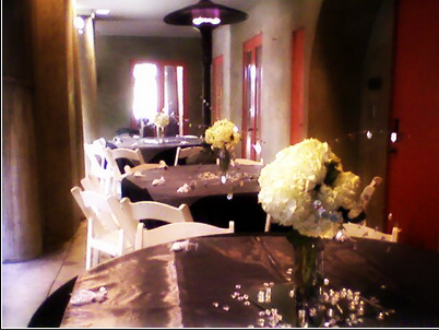 Reception, Flowers & Decor, white, black, Flowers, Hydrangeas, Dees petals
