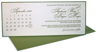 Stationery, ivory, green, brown, invitation, Modern, Modern Wedding Invitations, Invitations, Chocolate, The, Letterpress, Save, Date, Sage, Tea-length, Calendar, Paper mill designs, Custom-design