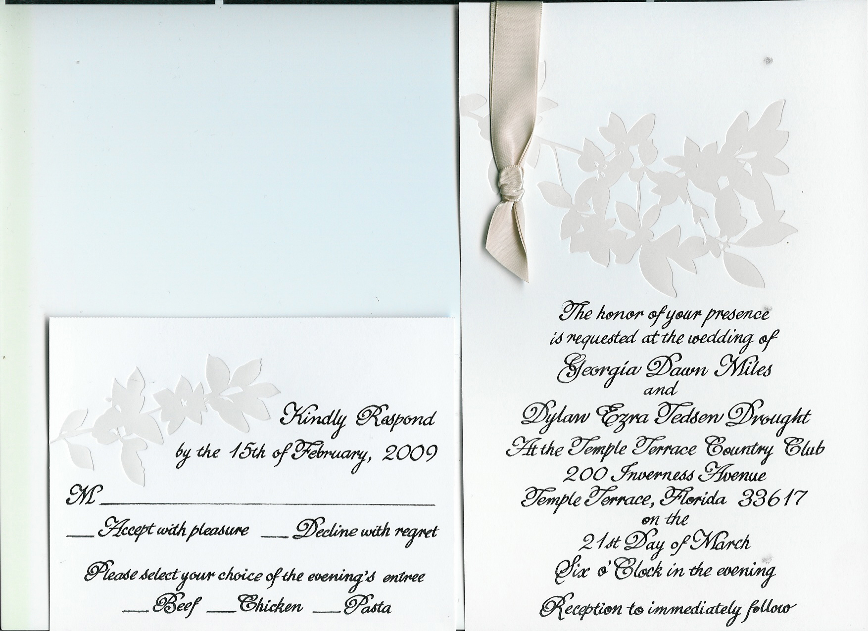 Stationery, Invitations, Our invitations