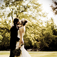Bride, Groom, Kiss, Couple, Sunset, Kissing, Country, Flare, Artsy, Edgy, Field, Hannahelaine photography, Lens