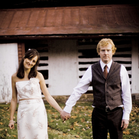 Bride, Groom, Barn, Couple, Country, Edgy, Woods, Hannahelaine photography