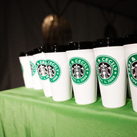 Favors & Gifts, white, green, Favors, Mugs, Starbucks, Studio diana