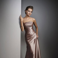 Bridesmaids, Bridesmaids Dresses, Wedding Dresses, Fashion, brown, dress, Floor, Mori, Lee, Length, Taupe, Taffeta, Uk, Glamourous gowns, Praline, Mink, Ruched, taffeta wedding dresses, Floor Wedding Dresses