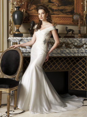 Wedding Dresses, Mermaid Wedding Dresses, Fashion, dress, Portrait, Mermaid, Gown, Wedding, Bridal, Shoulder, Jasmine, Off, Taffeta, Uk, Glamourous gowns, Fishtail, taffeta wedding dresses