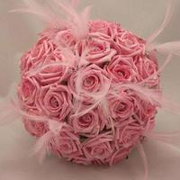 Beauty, pink, Feathers, Roses, Bouquet, Lavishly luxe floral and event design