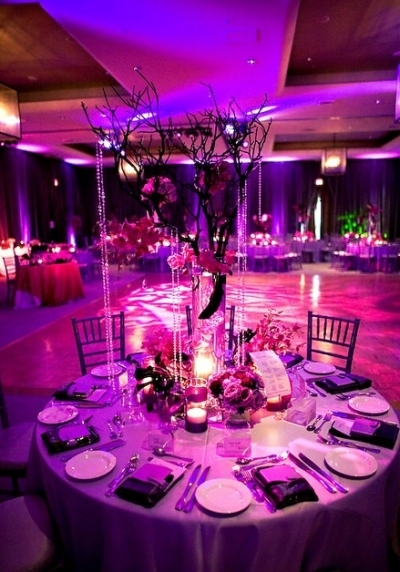 Roses, Centerpiece, Branches, Manzanita, Crystals, Lavishly luxe floral and event design