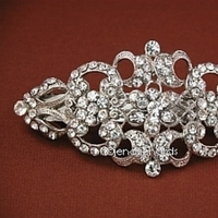 Beauty, silver, Hair, Rhinestone, Hair accessories, Hair barrette
