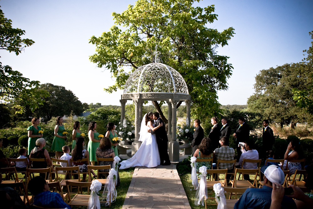 Ceremony, Flowers & Decor, Bride, Groom, Gazebo, Marriage