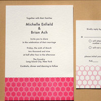 Stationery, pink, black, invitation, Invitations, Papeterie