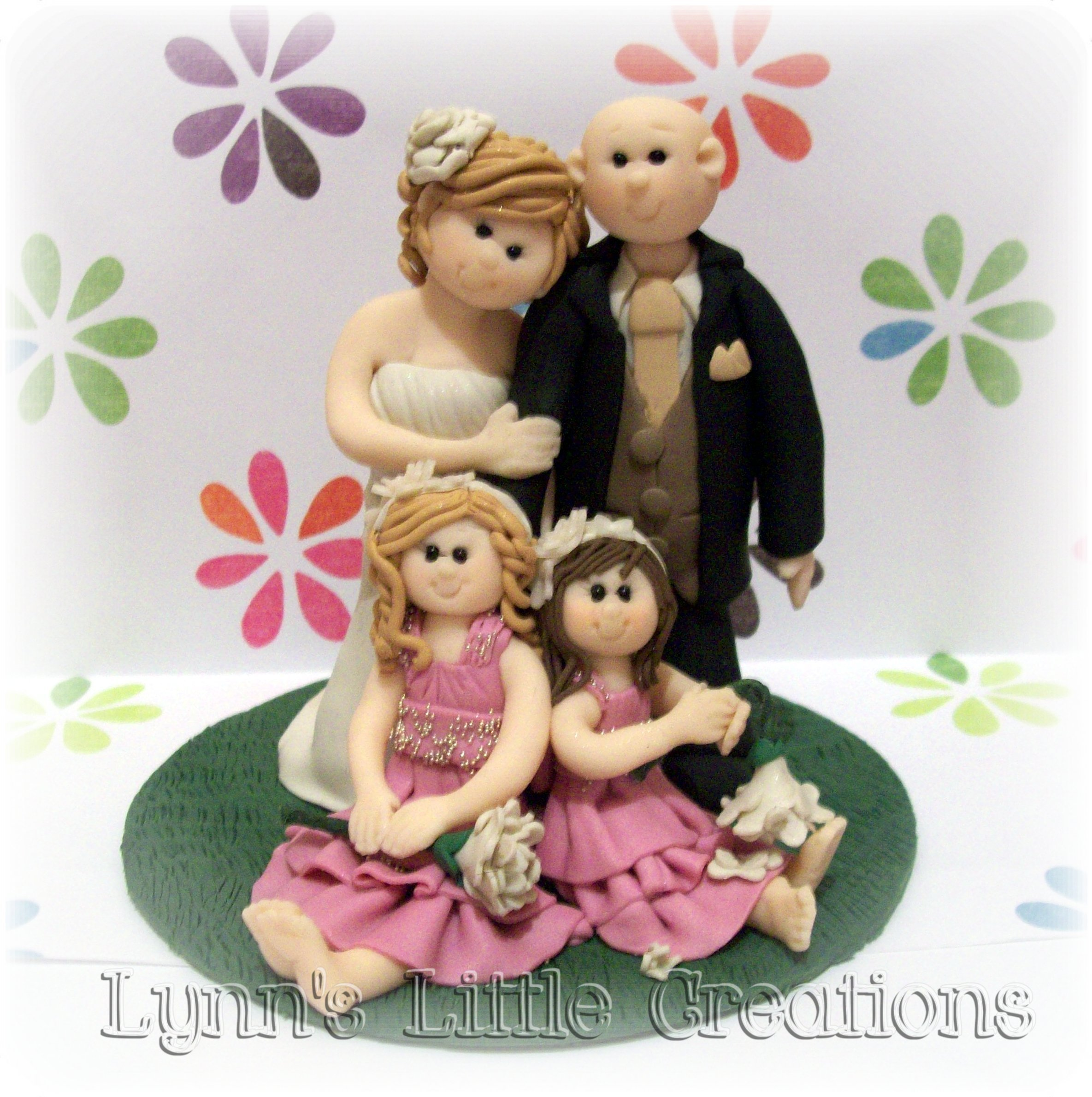 Flowers & Decor, Cakes, cake, Flower, Girl, Book, Topper, Guest, Center, Piece, Lynns little creations