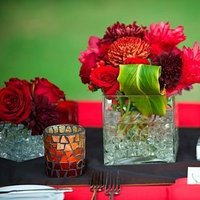 Destinations, red, Hawaii, Centerpieces, Wedding, Tropical, Maui