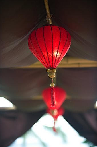 Destinations, red, Hawaii, Wedding, Tropical, Maui, Lantern