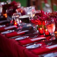 Destinations, red, Hawaii, Wedding, Tropical, Maui, Tablescape