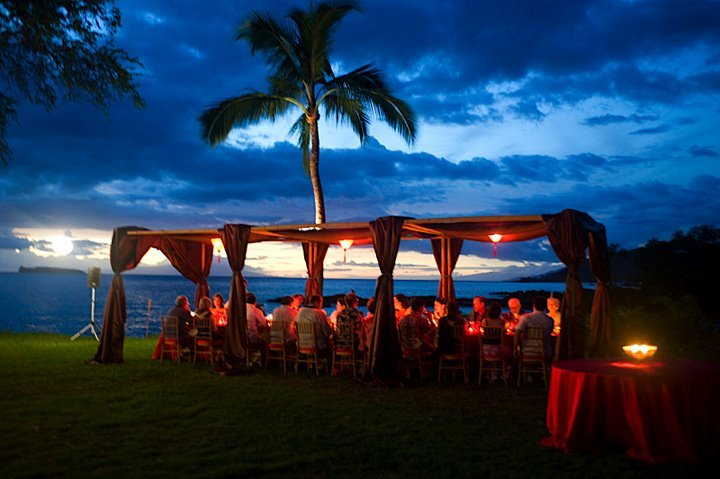 Reception, Flowers & Decor, Destinations, red, Hawaii, Wedding, Tropical, Maui, Canopy