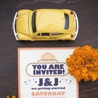 Stationery, Destinations, yellow, Asia, Invitations, Wedding, Indian, India, Beatles