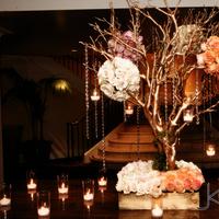 Flowers & Decor, gold, Centerpieces, Candles, Flowers, Centerpiece, Romantic, Placecard, Manzanita, Regal