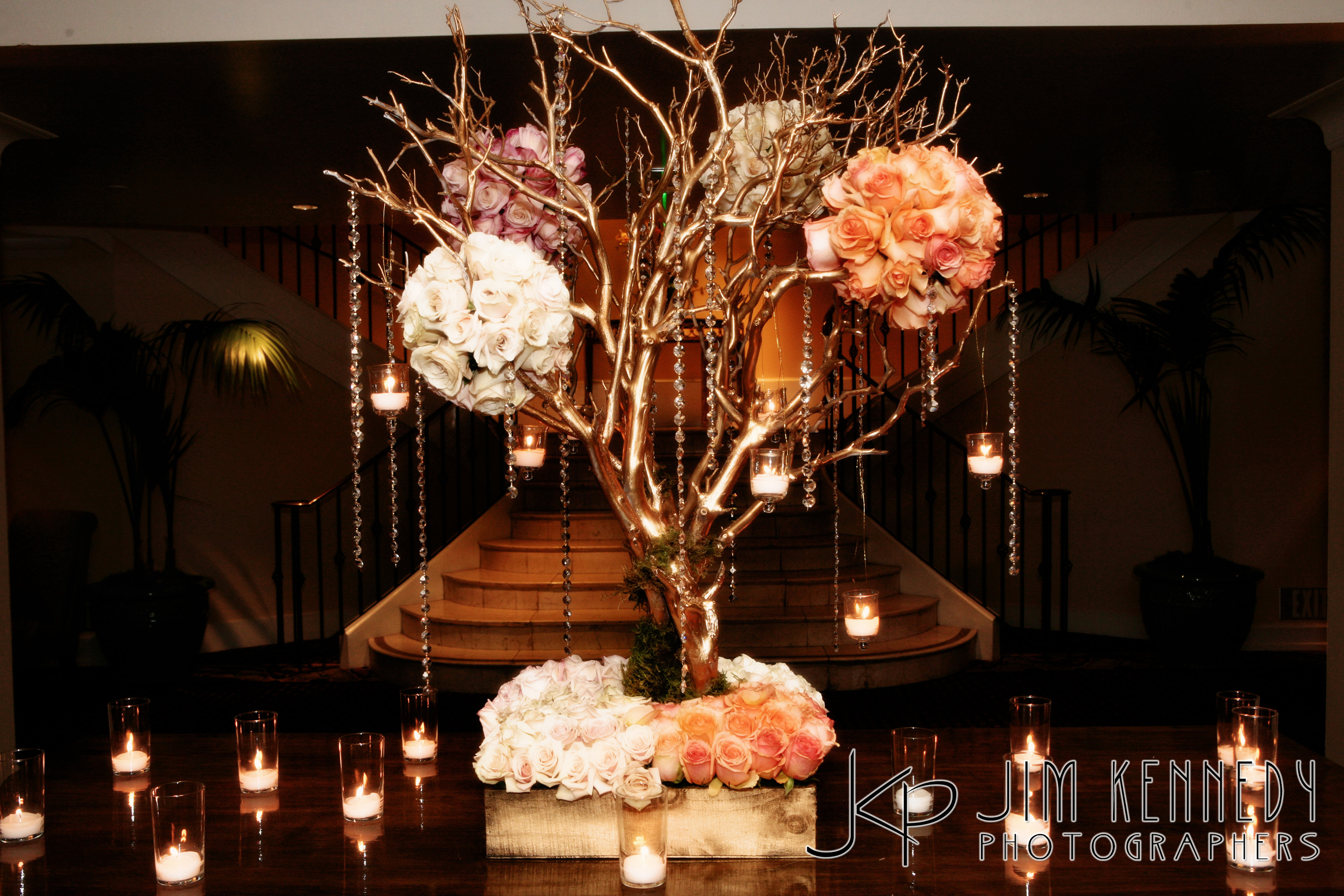 Flowers & Decor, gold, Centerpieces, Candles, Flowers, Centerpiece, Romantic, Placecard, Manzanita, Regal