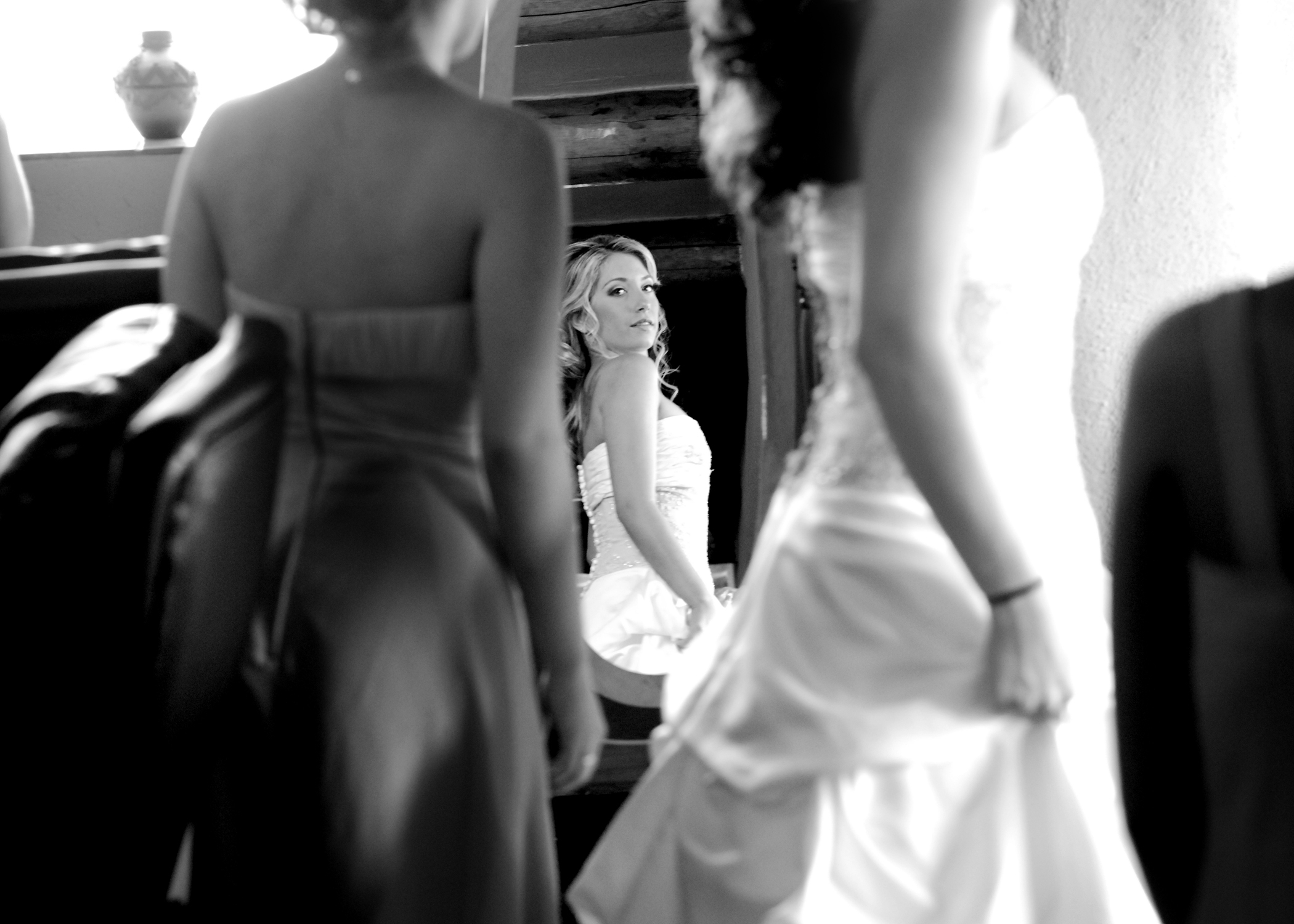 Photography, white, black, Bride, And, In, Mirror, Photograph, Reflection, Kim donald photography