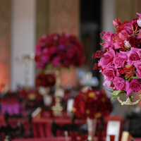 red, Centerpieces, Glam Wedding Flowers & Decor
