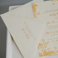 Calligraphy, Stationery, Invitations, Letterpress