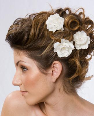 Beauty, Flowers & Decor, Updo, Accessories, Flower, Wedding, Hair, Make-up, Hairstyle, Design visage