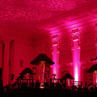 Reception, Flowers & Decor, pink, Theme, Gobo, Color, Building, Ballroom, Ceiling, Pattern, Projection, Uplight, Column